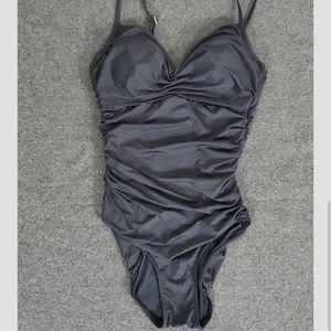 Badgley Mishka One Piece Gathered Side Swimsuit F6